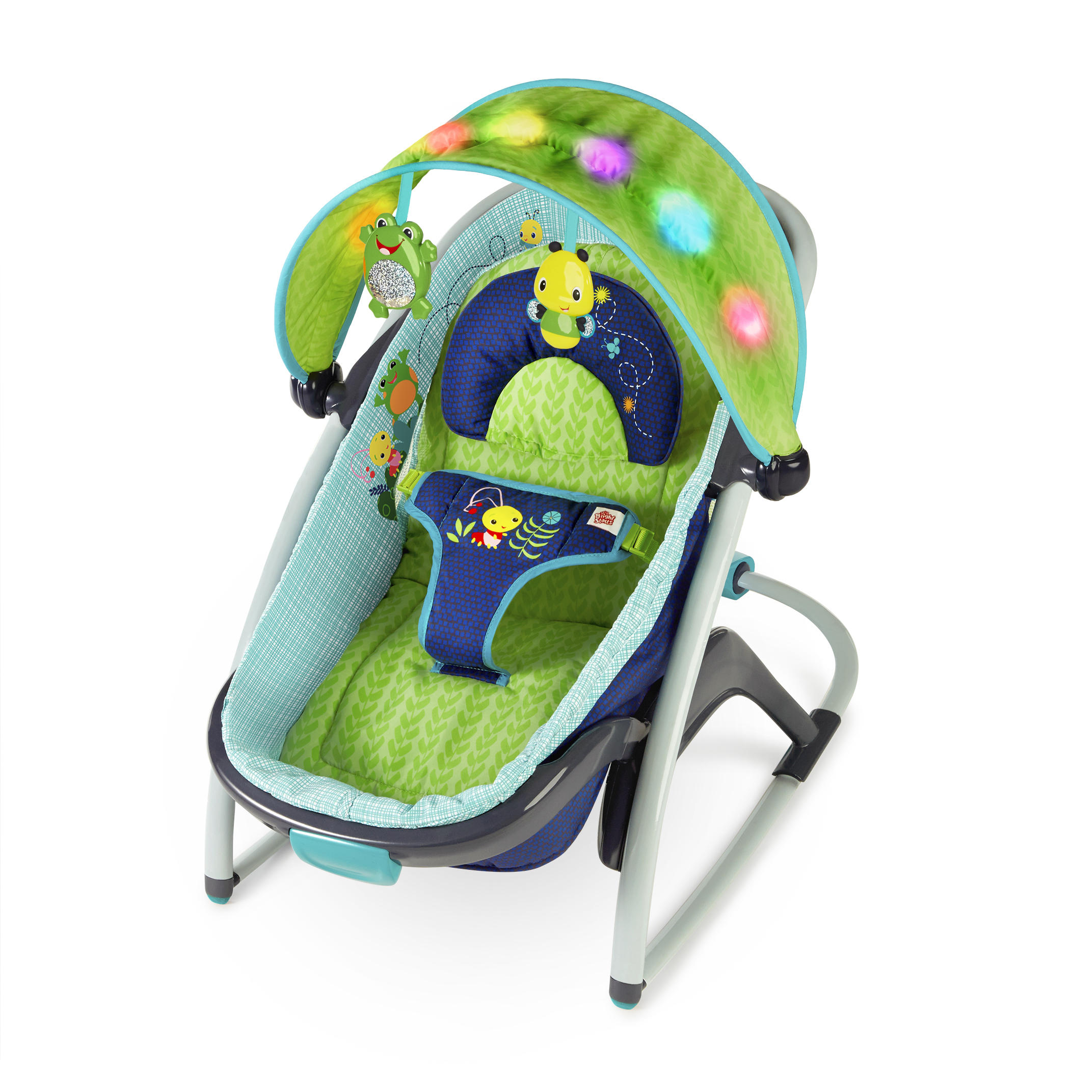 Bright Starts Light Up Lagoon 2 In 1 Delight & Dream Rocker