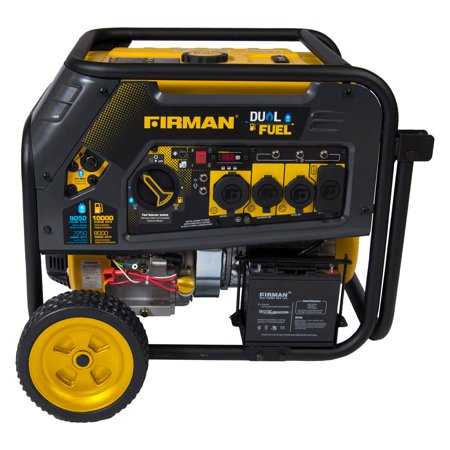Firman H08051 10,000/8,000 Watt Dual Fuel Electric Start Generator,