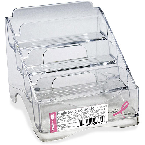 Officemate 4-Tier BCA Business Card Holder