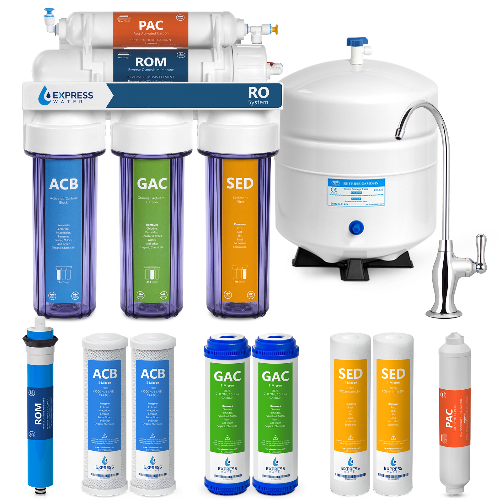 water filter system aquasana express water reverse osmosis filtration system stage ro purifier with faucet and