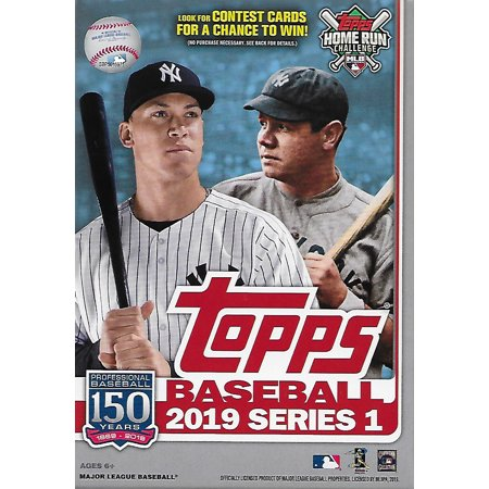 2019 Topps Baseball Factory Sealed Series One Hanger Box with 67 Cards per box Possible Autographs, Game Used Relic cards and more