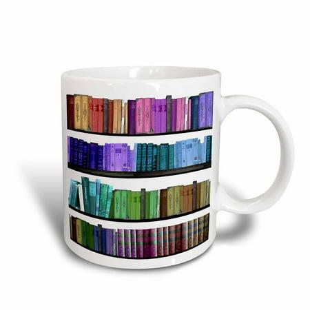 3dRose Colorful Bookshelf Books