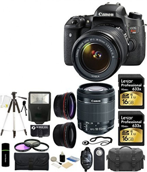 Canon EOS Rebel T6s 24.2MP CMOS Digital SLR Camera with EF-S 18-55mm f 3.5-5.6 IS II Lens + 58mm Telephoto Lens + Wide... by The Imaging World