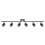 white linear track lighting. Globe Electric Watt Kearney 6-Light Oil Rubbed Bronze Foldable Track Lighting Kit White Linear T