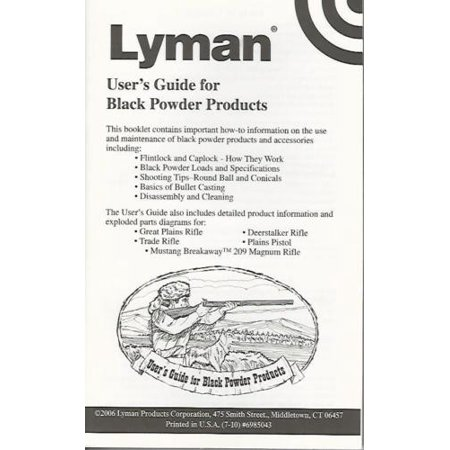 6985043 Lyman User's Guide for Black Powder Products