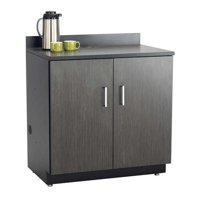 Safco 1702AN Hospitality Base Cabinet with Two Door - Asian Night & Black