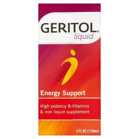(2 Pack) Geritol Liquid Energy Support, 4 fl oz