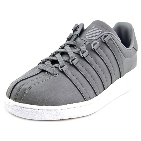 d087a7710a443 K-Swiss - K-Swiss Classic VN Men Round Toe Leather Gray Tennis Shoe ...