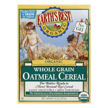 Earths Best Organic Whole Grain For Babies Oatmeal Cereal  8 Oz