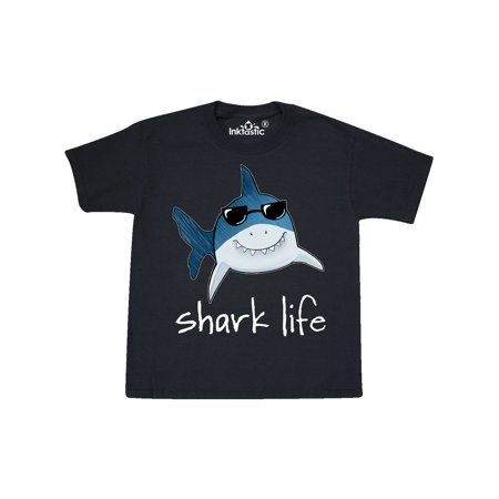 Shark Life Fun Shark With Sunglasses Youth T-Shirt