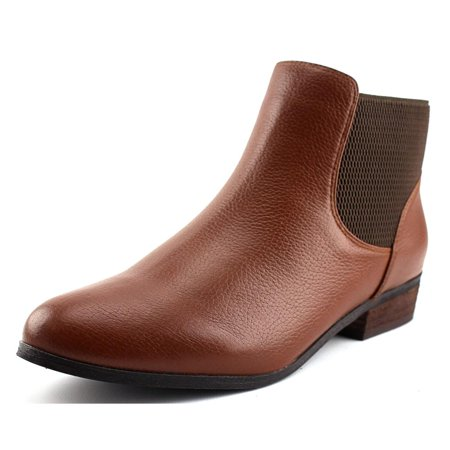 Soles Martin Place Women  Round Toe Leather Brown Ankle Boot Brown Leather Ankle Boots