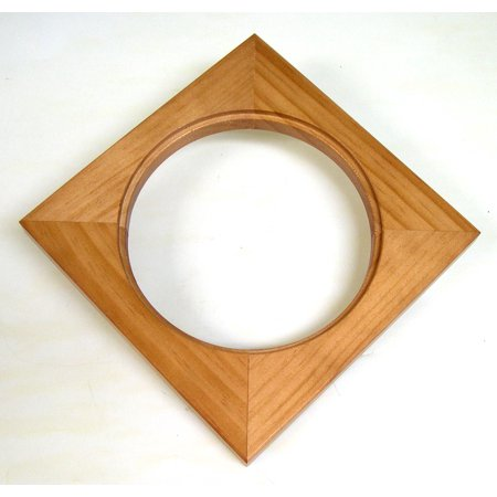 Solid Wood Frame Can Hold a 6 Inch Round Tile Or Similar Object ()