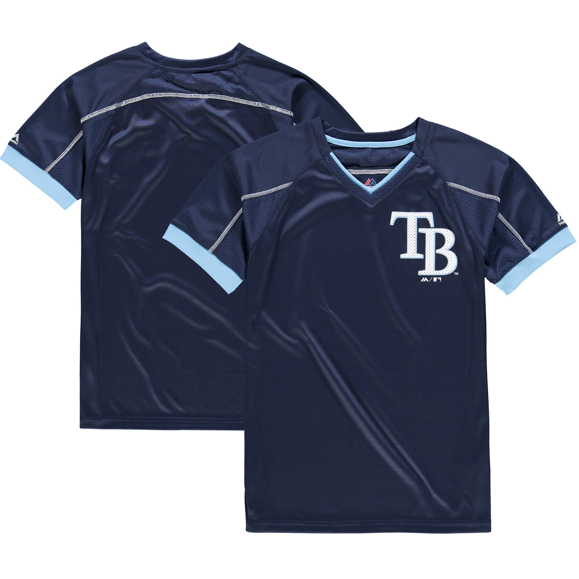 Tampa Bay Rays Majestic Youth Emergence T-Shirt - Navy