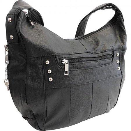 Leather Locking Concealment Purse Ccw Concealed Carry Gun Handbag New Model Black