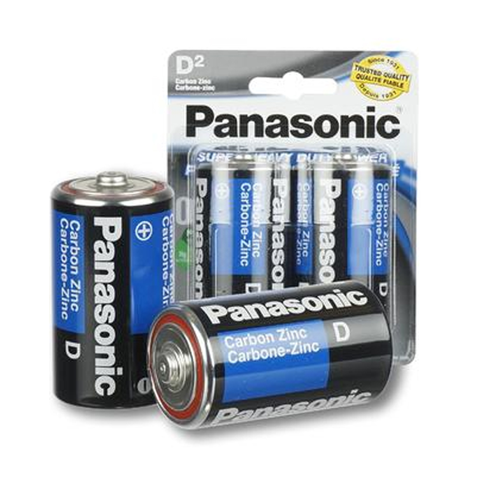 24 X Panasonic D Batteries Super Heavy Duty Carbon Zinc Battery 1.5V EXP. 2022