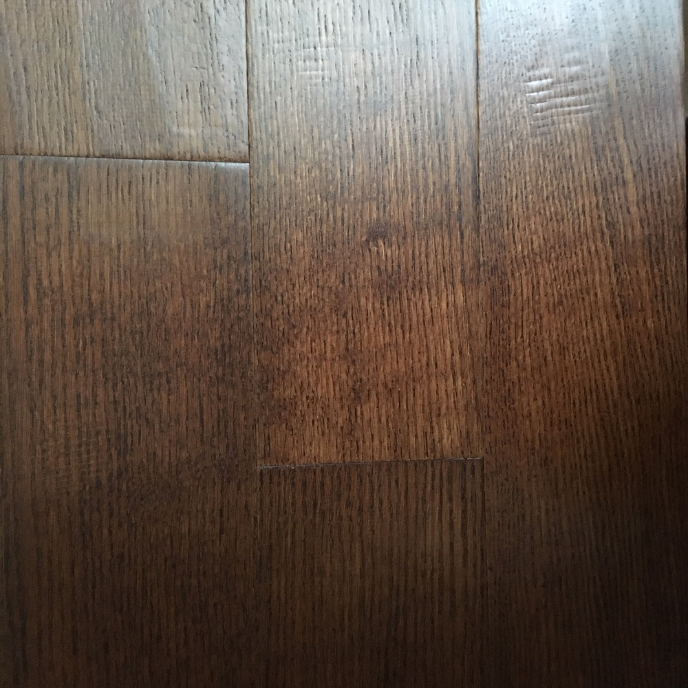 Dekorman Sunrise Red Oak Vintage Collection 3/8 in. Thick x 4.75 in. Wide x Random Length Planks Click Handscraped Engineered Hardwood Flooring (31.00 sq. ft. / case)