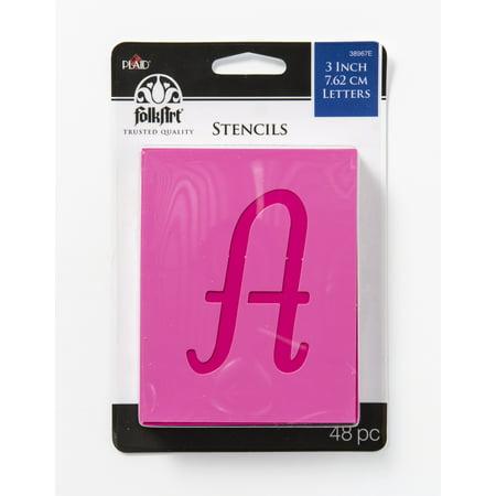 - FolkArt Paper Script Stencil Value Pack, 48 Piece