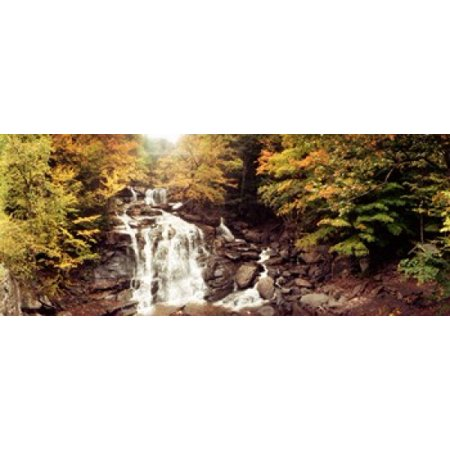 Kaaterskill Falls stream through the forest of the Catskill Mountains New York State USA Canvas Art - Panoramic Images (15 x 6)