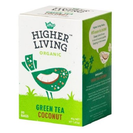 Higher Living Organic Green Tea Coconut 40g (20