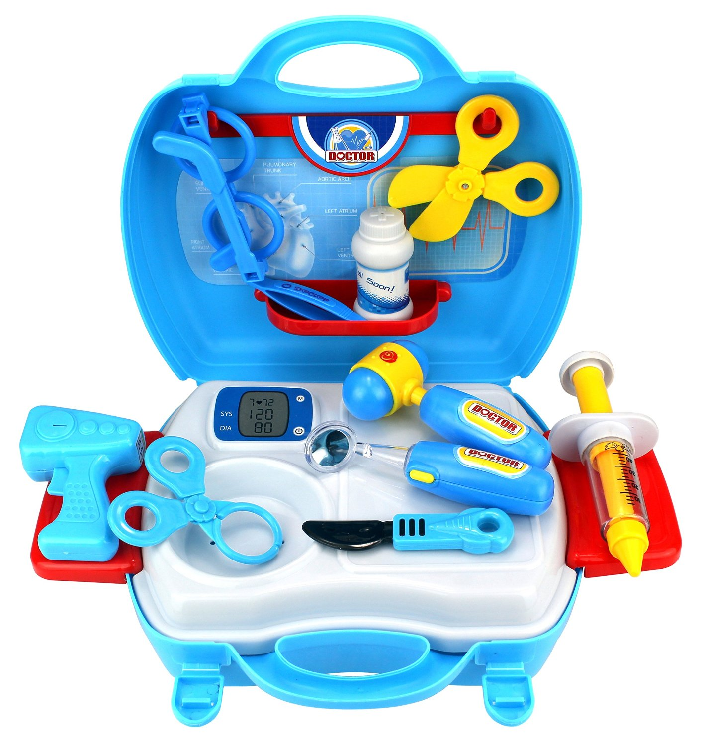 Dream Doctor Suitcase Children's Kid's Pretend Play Toy Doctor Nurse Set w/