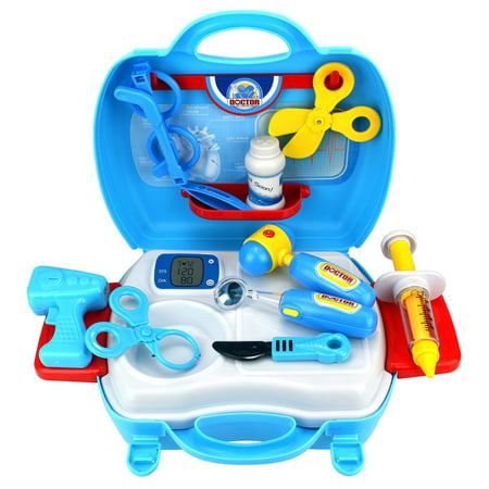 Dream Doctor Suitcase Children's Kid's Pretend Play Toy Doctor Nurse Set w/ Tools, Accessories (Children's Nurse Outfit)