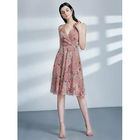 a1e1dec0ce74 Ever-pretty - Ever-Pretty Womens Fashion Floral Knee-Length Chiffon  Homecoming Cocktail Party Casual Dresses for Women 04108 US 6 - Walmart.com