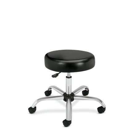 HON Medical Stool - Vinyl Backless Exam Stool, Black (HMTS01) (Vinyl Medical Stool)