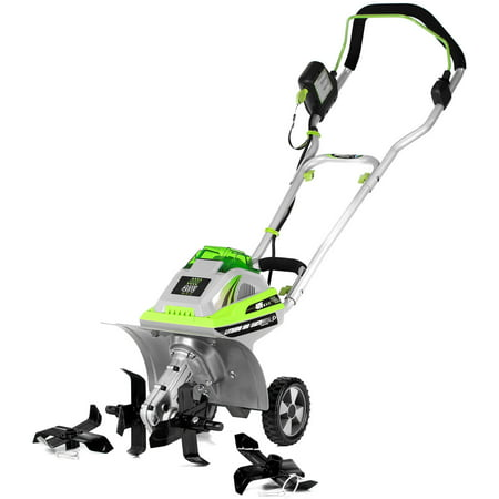 Earthwise TC70040 11-Inch 40 Volt Lithium Ion Cordless Electric Tiller/Cultivator with Adjustable
