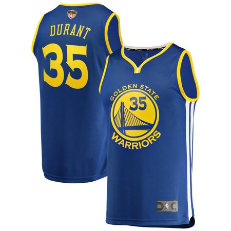 Kevin Durant Golden State Warriors Fanatics Branded 2019 NBA Finals Bound Fast Break Replica Player Jersey - Icon Edition