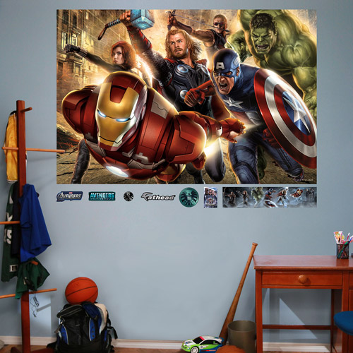 FATHEAD The Avengers Mural Graphic Wall Décor