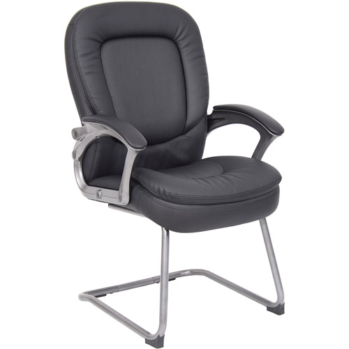 Boss Office Products Pillow Top Guest Reception Chair, Black