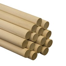 "10 Pcs 1-1/4"" x 36"" Maple Dowels A quality dowel begins with quality lumber. Our dowels are made from select Birch and Maple."