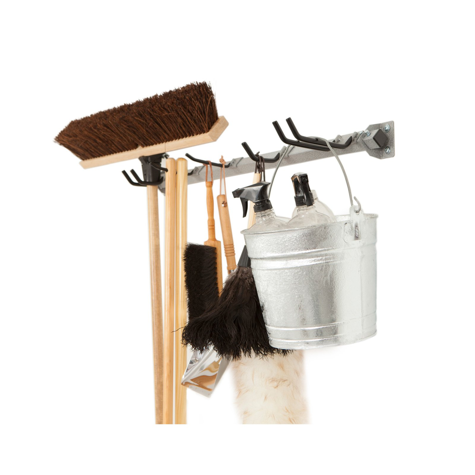 Monkey Bars Mop & Broom Storage Rack