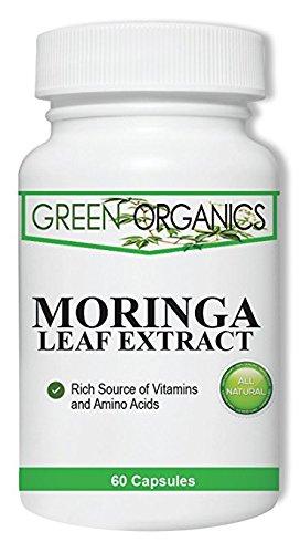 Green Organics Moringa Leaf Extract – 60 Capsules - Potent Appetite Suppressant for Quick ..., fat burner side effect,green tea extract fat burner reviews