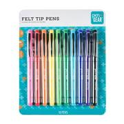Pen + Gear Felt-Tip Pens, Ultra Fine, Assorted Colors, 10 Count