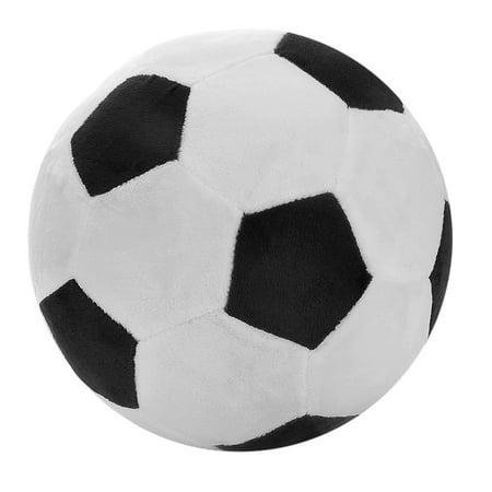 "T PLAY Plush Soccer Balls Fluffy Stuffed Soccer Ball Plush Pillow Soft Plush Soccer Ball Pillow Durable Soccer Ball Stuffed Toy Stuff Soccerball Gift for Kids Boy Baby 8"" L X 8"""