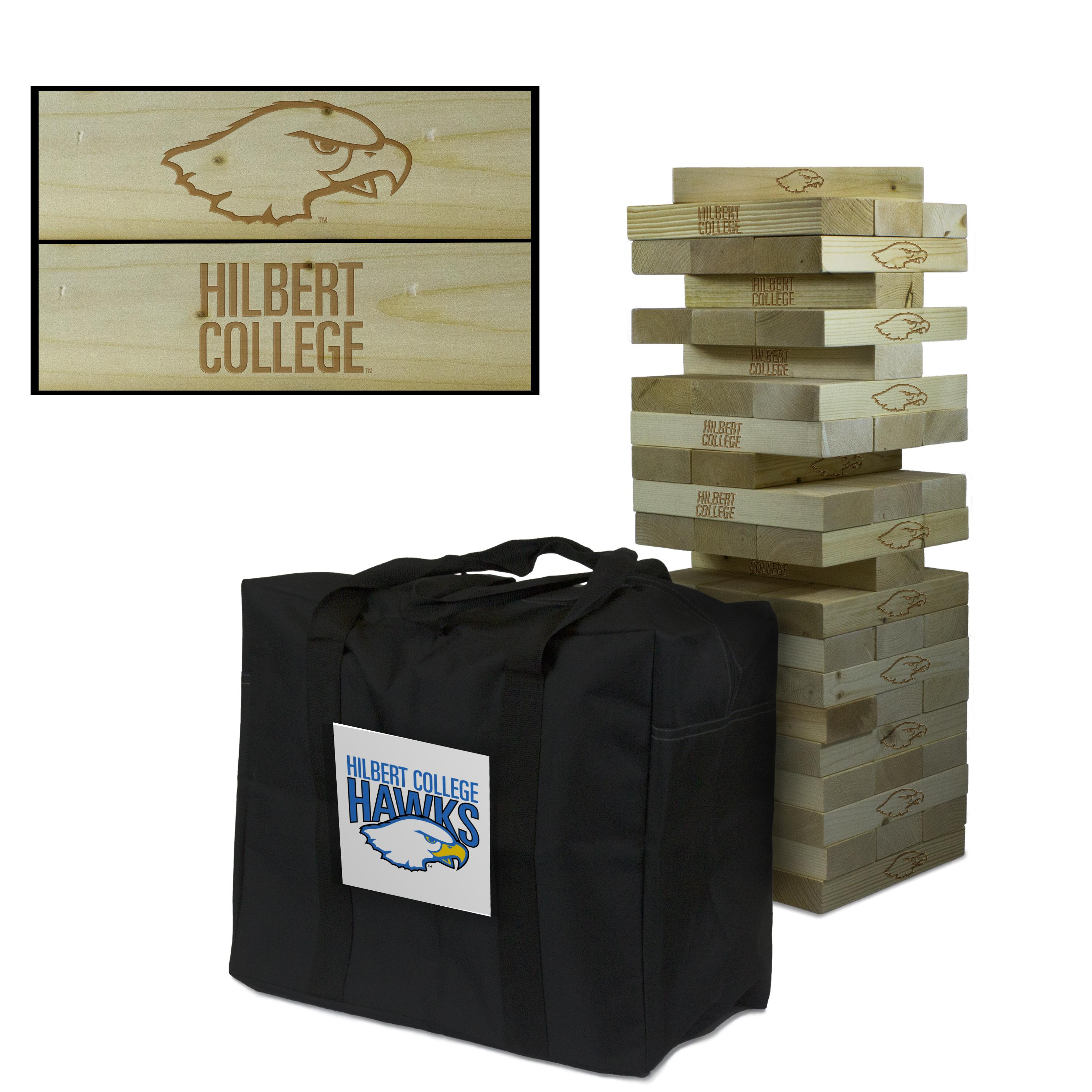 Hilbert College Hawks Giant Wooden Tumble Tower Game