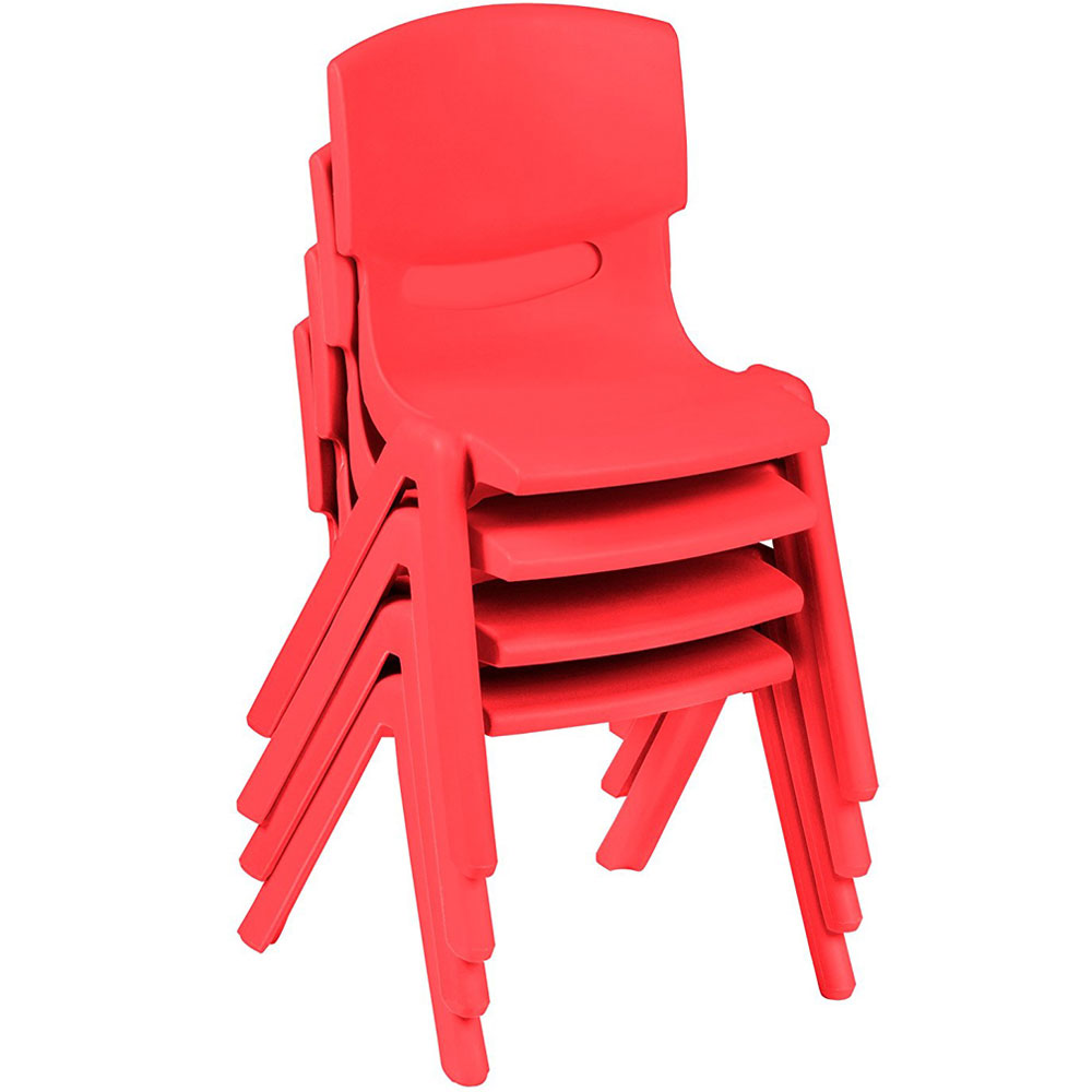 Ktaxon Set Of 4 Kids Chairs Stackable Children Plastic