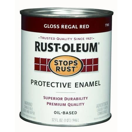 Rustoleum  Stops Rust 7765-502 1 Quart Regal Red Gloss Stops Rust Protective Enamel