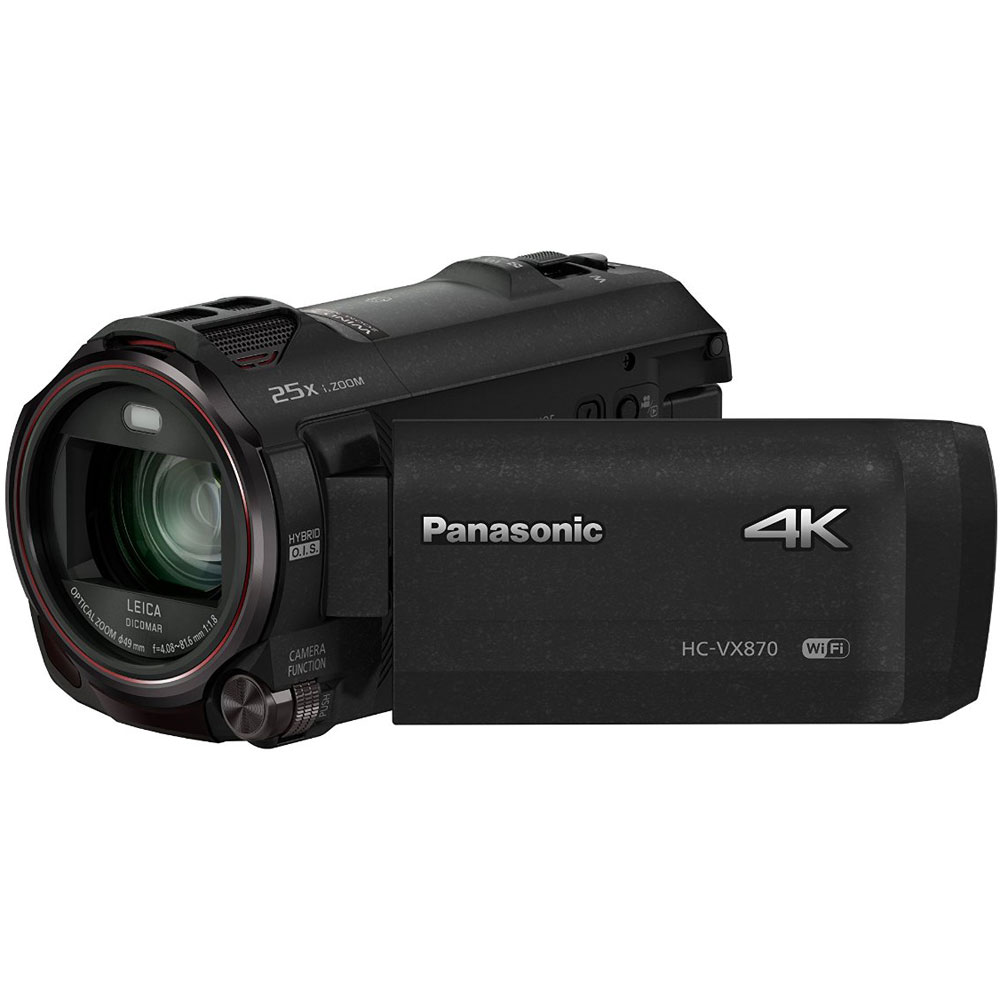 Panasonic HC-VX870K 4K Ultra HD Camcorder w  Wireless Smartphone Twin Capture by Panasonic