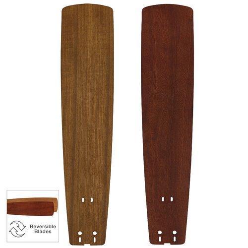 "26"" Standard Wood Blade: Teak mahogany Set Of 5 by Fanimation"