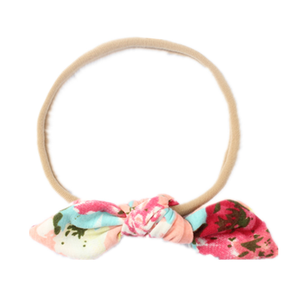 Outtop Baby Kids Girls Rabbit Bow Ear Hairband Headband Turban Knot Head Wraps