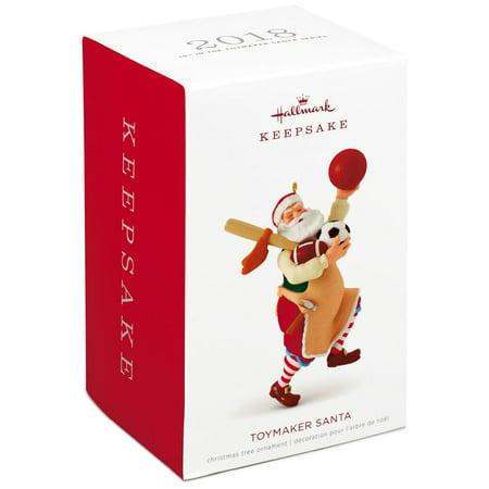 - Hallmark Keepsake 2018 Toymaker Santa Sports Equipment Ornament