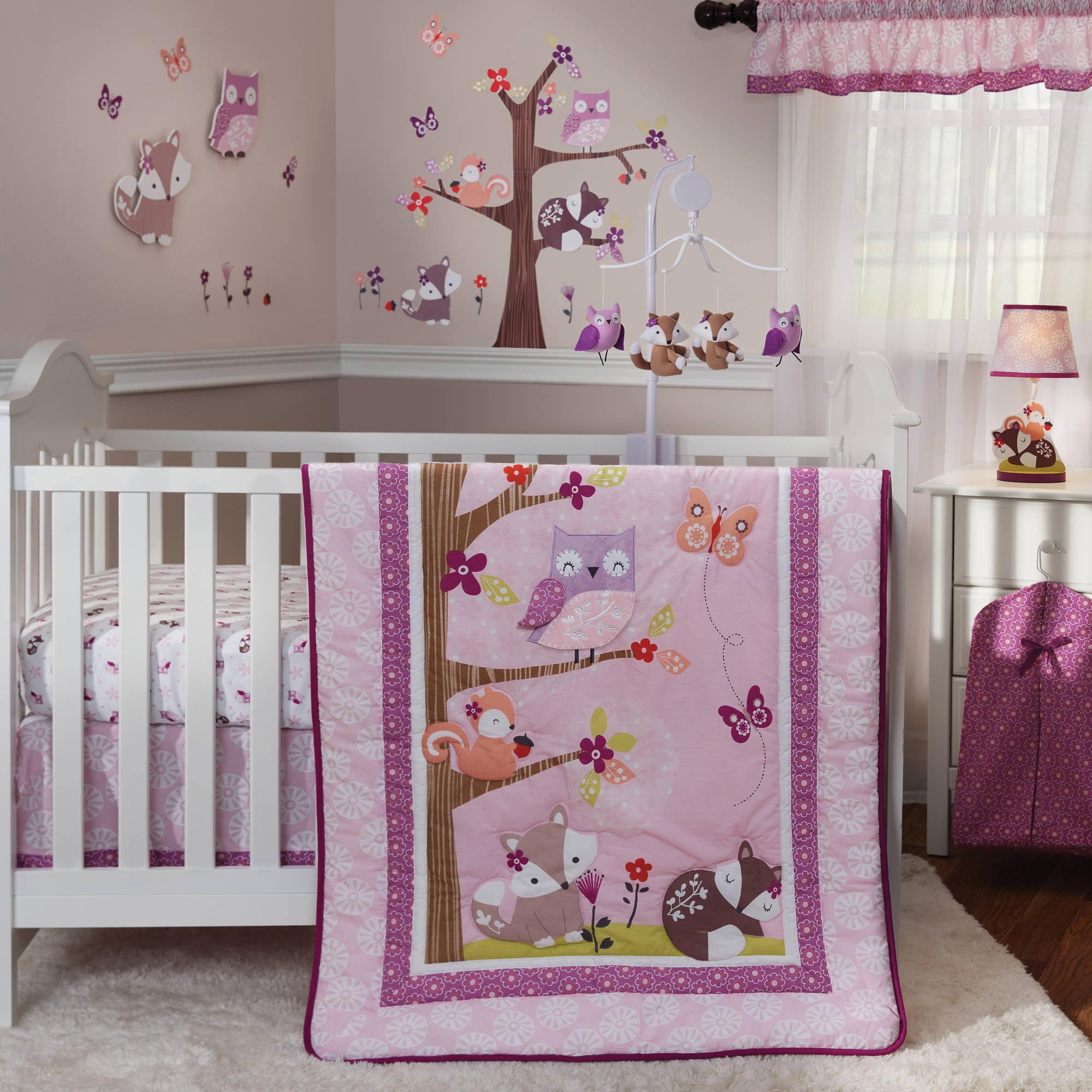 Bedtime Originals Lavender Woods 3-Piece Crib Bedding Set