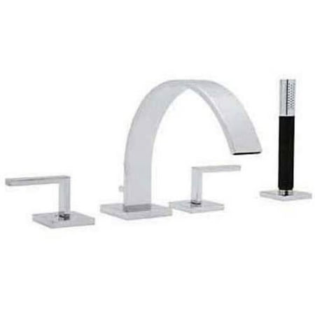 - Rohl WA26L Modern Wave Deck Mount Tub Filler Faucet, Available in Various Colors