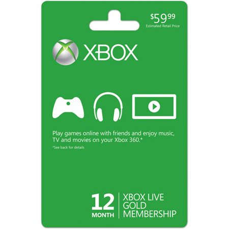 Xbox Live 12 Month Gold Card  Xbox 360