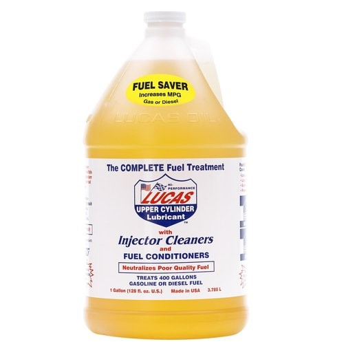 Lucas 'The Complete Fuel Treatment' 1 Gallon Bottle with Injector Cleaners and Fuel Conditioner