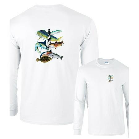 Cape Hatteras Lighthouse North Carolina Fishing Long Sleeve T-Shirt Montauk Lighthouse Clothing