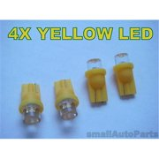 SmallAutoParts Yellow T10 Led Bulbs - Set Of 4
