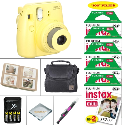 FujiFilm Mini 8 Instant Film Camera FujiFilm Instax Film 100 PCS Battery & Cahrger Photo Album Case by Fujifilm